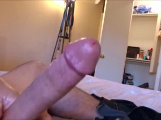 CUTE GUY MASTURBATING THEN CUMMING ALL OVER & LOUD ORGASM WITH CUMSHOTS!!