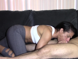 Alexis Rain coughing blow job
