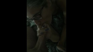 CUM HUNGRY LATINA STEPSIS CUM ON GLASSES
