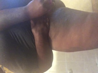BBW Plays With Her Fat Wet Pussy With Huge Dildo