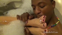 Milf Enjoys Spa Tub Fun with Her BBC Lover