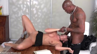 Black Little Caprice get fucked first time from a big Black Cock Cumshot big