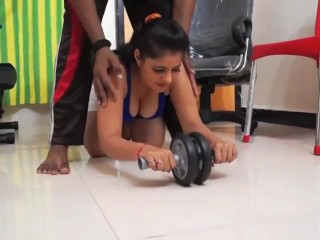 Gym trainer SEX With Hot Sexy Girl | HOT SEXY Aunty | Big Boobs