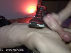 Twink bound and milked on sneaks