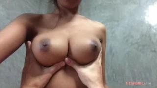 Dude fucks his big tit girlfriend in hotel room Smalltits cim