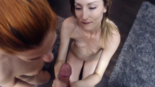 Sharing my husbands cock and cum with sexy redhead best friend Brunette mother