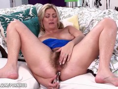Alicia Silver toys her hairy pussy and horny ass