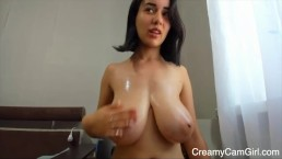 Young Latina Plays With Tits – CreamyCamGirl