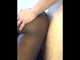 fingering my black gf in the ass while fucking