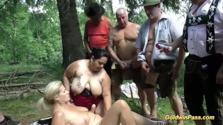 bbw all girl orgy