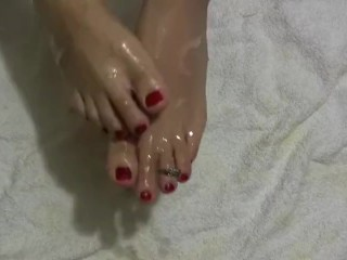 Hot Sexy Feets Cumshot Covered