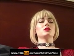 Riley Storm Gives Foot Job Then Masturbates To A Creamie Finale