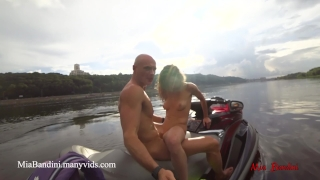 Jet public bandini on ride mia the ski in the anal city centre girl small