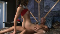 Hot TS Asian Cheerleader Gets Pounded Raw