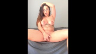 Big squirt masturbation thick glasses