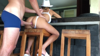 Blonde teen is squirting while her ass is gaped and creampied. HD Orgy cowgirl
