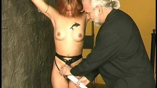 Clip Master Len with his sexy girl slave pussy and tits torture