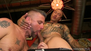 Asian Daddy Damian Flips Fucks with Muscle Stud Christian