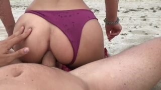 For anal young massive blonde beach on public creampie exploding creampie beach