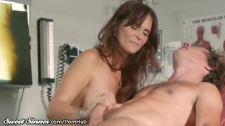 SweetSinner MILF Doctor Fucked by Stepson in Exam Room Natural pig