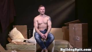 Bound UK bottom gets anally drilled Big handjob