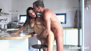 Let's go to the kitchen, it's more easy to clean! - Caught sitting on a toy Sperm cumshot