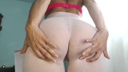 Milf Cam Model With Wet Camel Toe Squirts in Pink Yoga Leggings