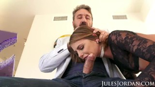 Jules Jordan - Adriana Chechik Double Anal Creampie! Natural tits