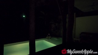 DRUNK GIRL FUCKED AFTER POOL PARTY TO WIN A BET - MYSWEETAPPLE  spring break cancun drunk girl college big cock party pool amateur drunk pov young bubbly butt teenager facial cancun wasted college party