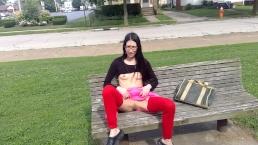 Asian Flashing Buttplug & Fuck Dildo In Public Park lizlovejoy.manyvids.com