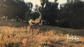 Public Sex in a Parc with my best friend! FFM Amateur Couple LeoLulu +Guest Blowjob teasing