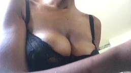 Oiling those slut tits