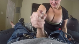 Big titty homeless chick sucks the dick sloppy Blowjob blow job