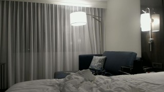 Preview 6 of Getting Frisky in a Hotel, Sucking a Dildo and Undressing ♡