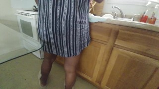 Upskirt Video My wife little sister can't find the s and pans.