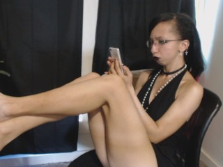 rude bratty goth girl ignores you to text on her phone ignore fetish