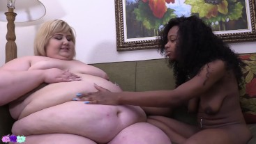 big belly loving for ssbbw ivy davenport from skinny black babe sierra simmons