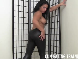 Cum Eating Instructions And Femdom CEI Porn
