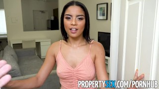 PropertySex - Landlord fucks wife's insane hot younger sister Anal open