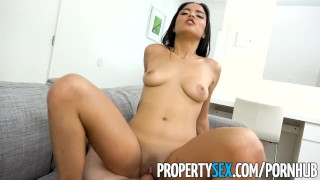 PropertySex - Landlord fucks wife's insane hot younger sister Step boobs