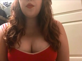 Sexy Redhead Teen Smoking Big Perky Tits Chubby White Girl