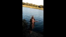 cirelda naked resting on the lake