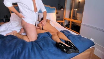 Hot anal with petite hot young model