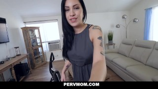 PervMom - Horny Latina Stepmom Sucks My Cock Step brother