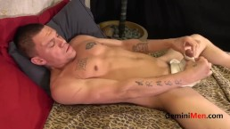 Str8t Thug with Great body , Cock & Balls uses Toys to get Off