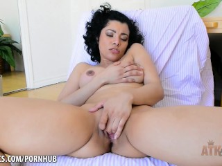 Sultry Maya Morena fingers her pussy for you