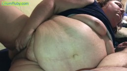 Fat Thot- Obese 360 Pound BBW Bates Pussy to Orgasm as Belly Jiggles