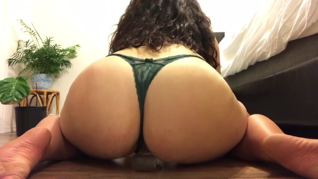 Thick Latina Taking 8 Inch Dildo