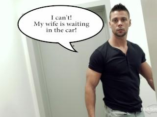 Straight Euro Daddy Masturbates 4 U While Wife Waits Downstairs