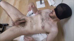 Hard ass fuck for moaning str8 guy by sex machine, a2m makes him cum